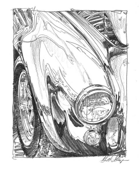 Wall Art - Drawing - 427 Cobra Study by Garth Glazier