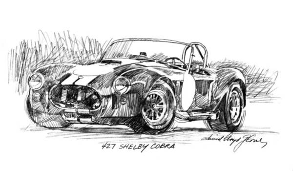 Drawing - 427 Shelby Cobra by David Lloyd Glover