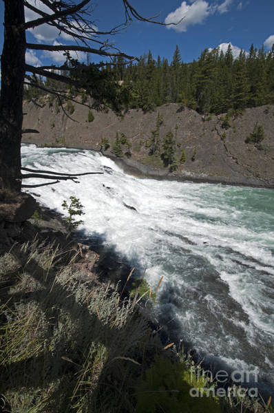 Photograph - 428p Bow River Falls Canada by NightVisions