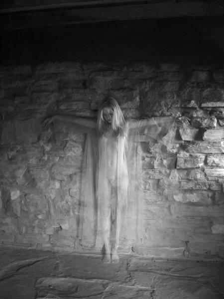 Photograph - 4291 Infrared Nude Spirit By Stone Wall  by Chris Maher