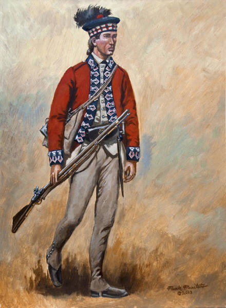 Wall Art - Painting - 42nd Royal Highland Regiment Of Foot by Mark Maritato
