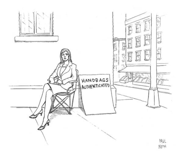 Handbags Wall Art - Drawing - New Yorker September 24th, 2007 by Paul Noth