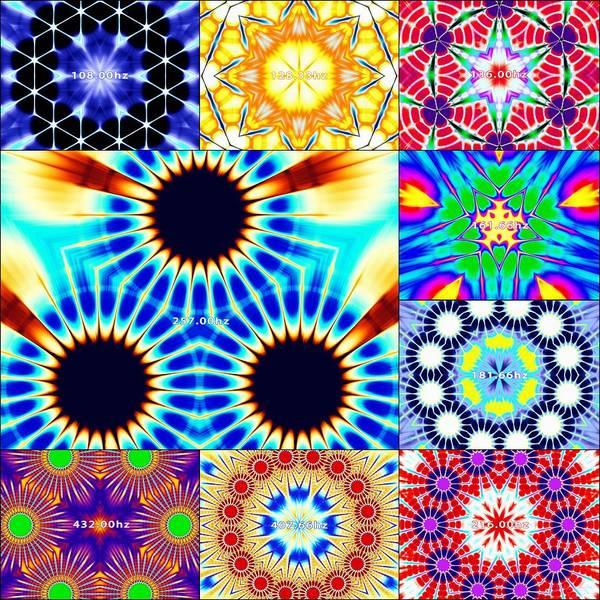 Digital Art - 432hz Cymatics Grid by Derek Gedney