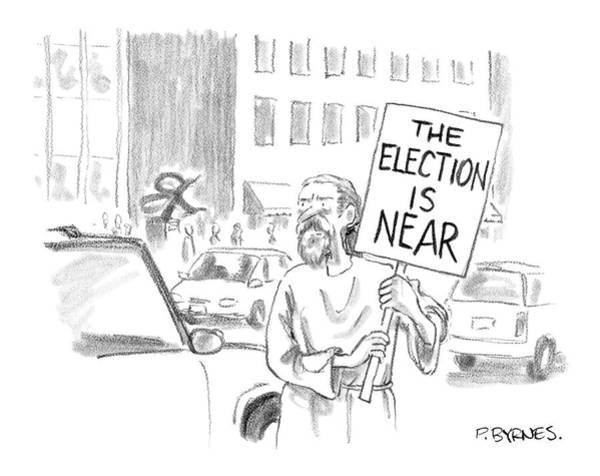 Campaign Drawing - New Yorker November 1st, 2004 by Pat Byrnes