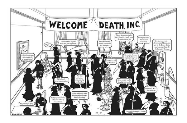 Welcome Drawing - Welcome Death by Alex Gregory