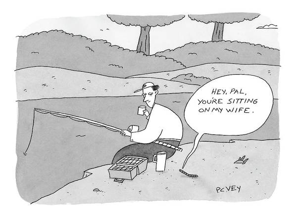 Fishing Drawing - New Yorker September 25th, 2006 by Peter C. Vey
