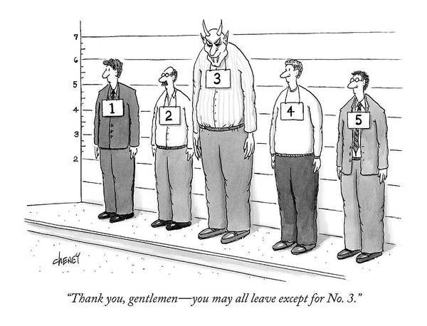 Devil Drawing - Thank You, Gentlemen - You May All Leave by Tom Cheney