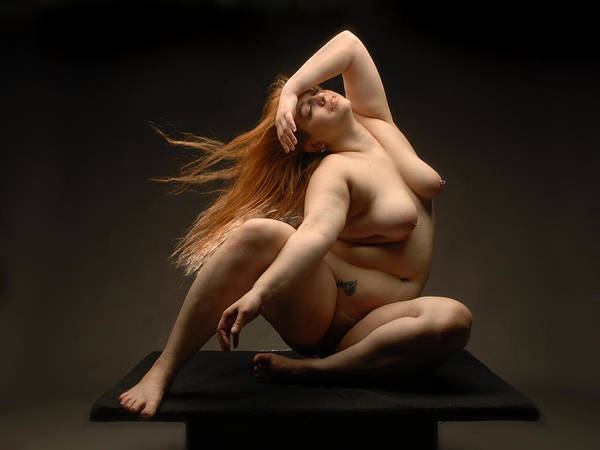 4541 Full Figured Nude Art Print