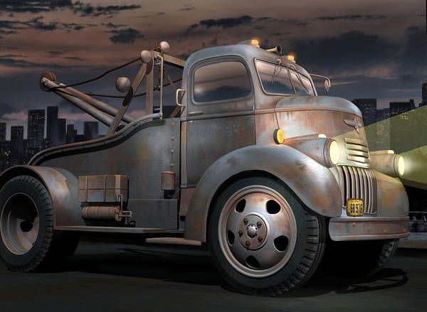 Wall Art - Digital Art - '46 Chevy Towtruck by Stuart Swartz
