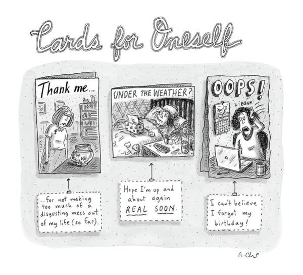 Weather Drawing - Cards For Oneself by Roz Chast