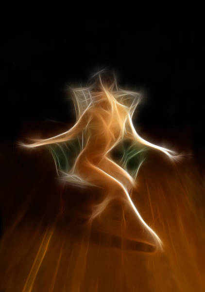 Photograph - 4698 Energy Work Abstract Nude Seated Figure   by Chris Maher