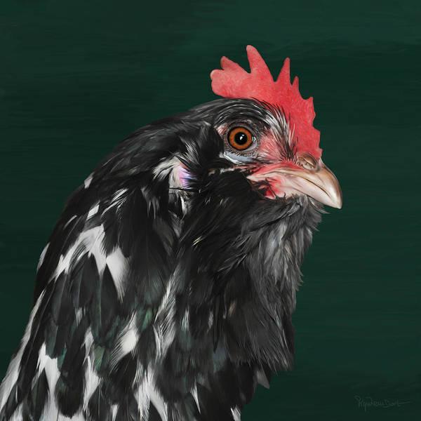 Digital Art - 47. Bearded Hen by Sigrid Van Dort
