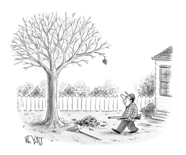 Rake Drawing - New Yorker November 27th, 2006 by Christopher Weyant