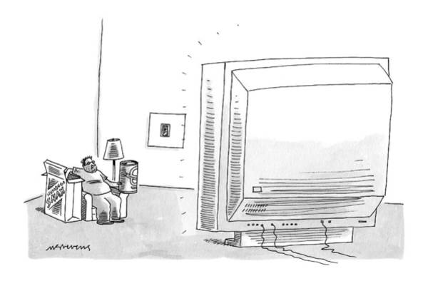 T.v Drawing - New Yorker May 8th, 2006 by Mick Stevens