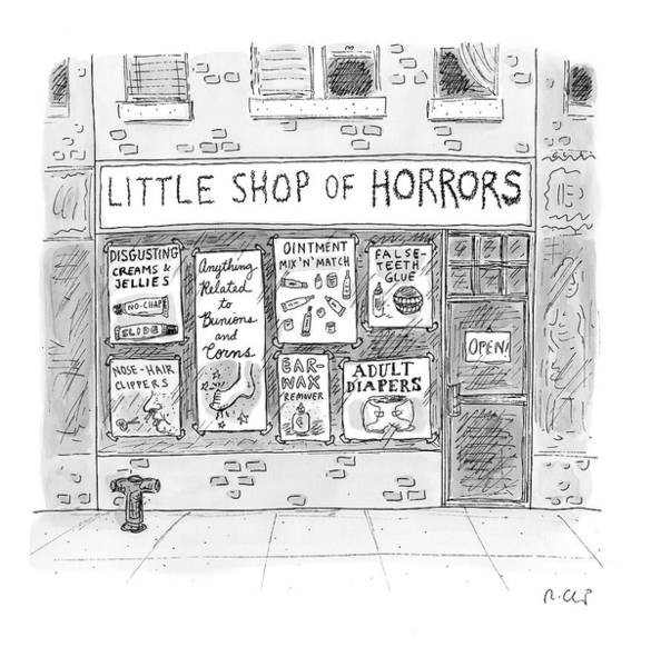 Storefront Drawing - New Yorker April 21st, 2008 by Roz Chast