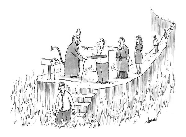 Satan Drawing - New Yorker March 7th, 2005 by Tom Cheney