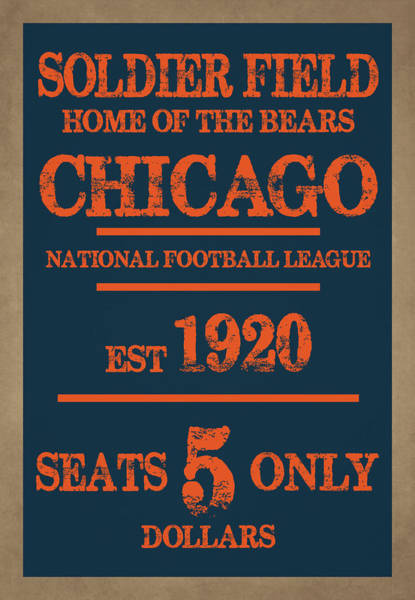 Sears Tower Photograph - Chicago Bears by Joe Hamilton