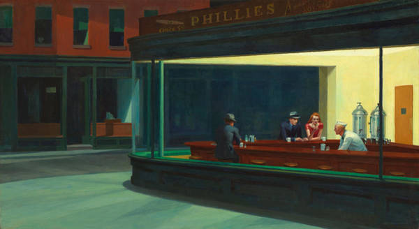 Urban Drawing - Nighthawks by Edward Hopper