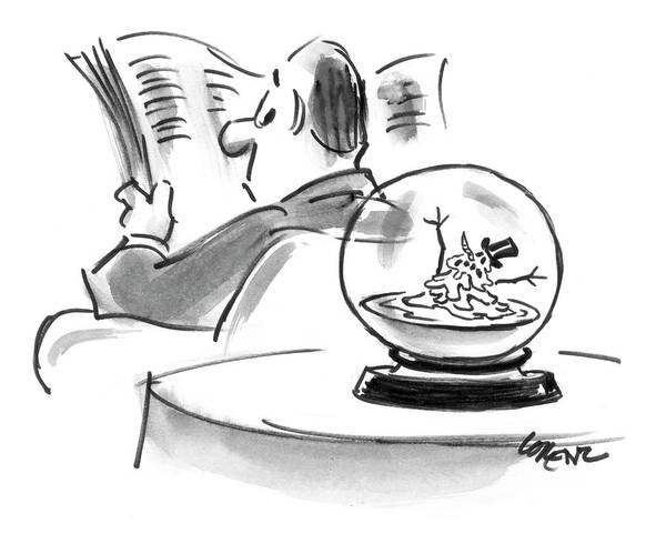 Globe Drawing - New Yorker December 25th, 2006 by Lee Lorenz