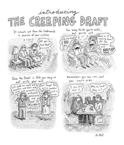Wind Drawing - New Yorker January 15th, 2007 by Roz Chast