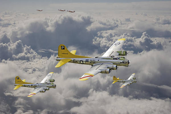 Usaaf Wall Art - Digital Art - 487th Bomb Group by Pat Speirs