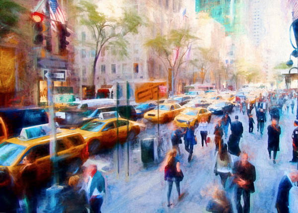 Photograph - New York City 49th And Fifth by Rospotte Photography