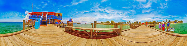 Photograph - 4x1 Anna Maria Island Rod And Reel Pier by Rolf Bertram