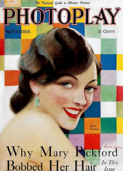 1920s Usa Photoplay Magazine Cover Art Print