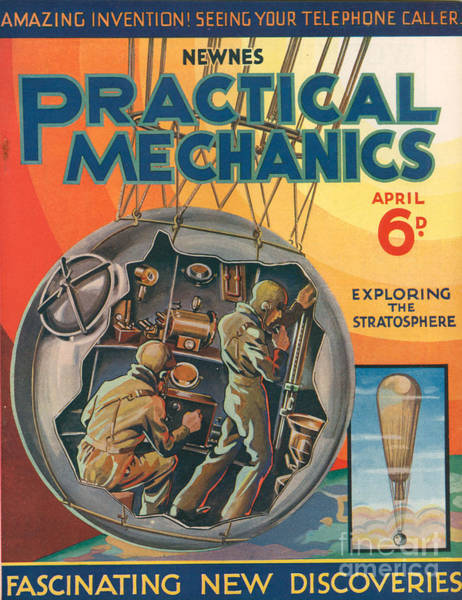 Astronaut Drawing - 1930s Uk Practical Mechanics Magazine by The Advertising Archives