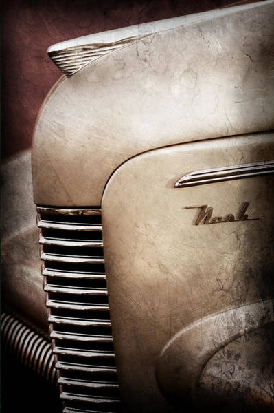 Photograph - 1940 Nash Sedan Grille by Jill Reger