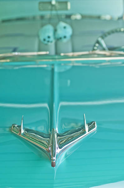 Photograph - 1956 Chevrolet Belair Hood Ornament by Jill Reger