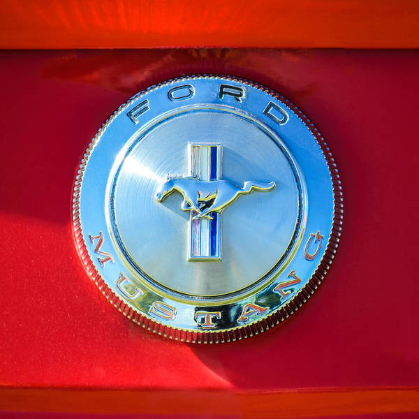 Mustangs Photograph - 1966 Ford Mustang Emblem by Jill Reger