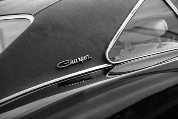 R Photograph - 1969 Dodge Charger R-t Side Emblem by Jill Reger