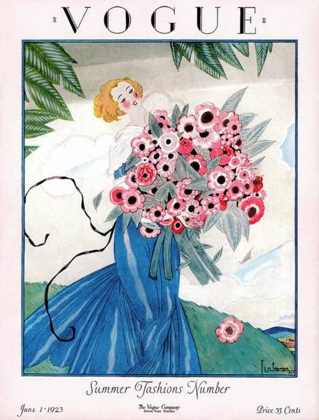 1923 Photograph - A Vogue Magazine Cover Of A Woman by Georges Lepape