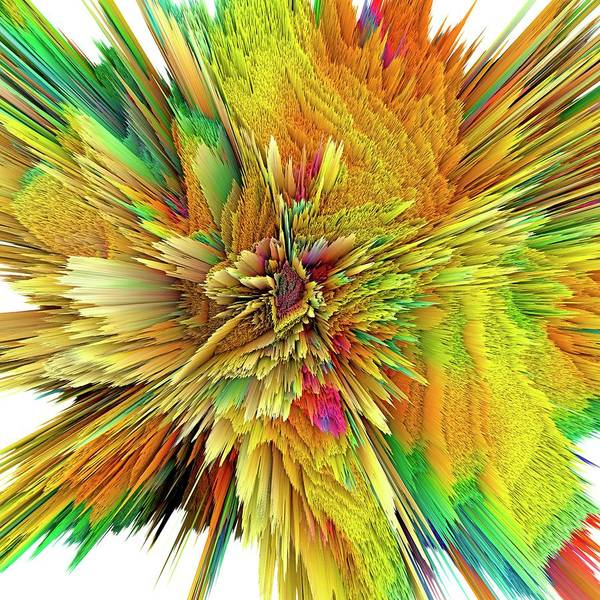 Wall Art - Photograph - Abstract Burst by Alfred Pasieka/science Photo Library