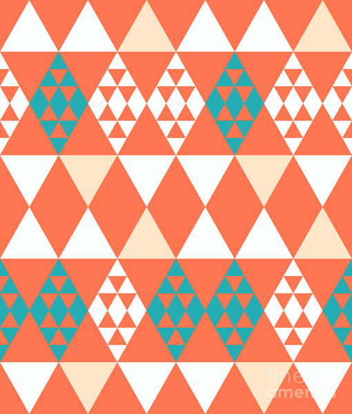 Wall Art - Digital Art - Abstract Retro Pattern. Vector by Artsandra