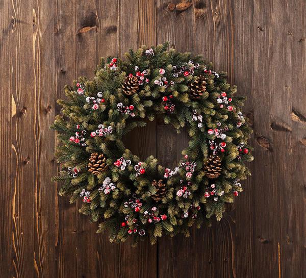 Photograph - Advent Christmas Wreath Decoration by U Schade
