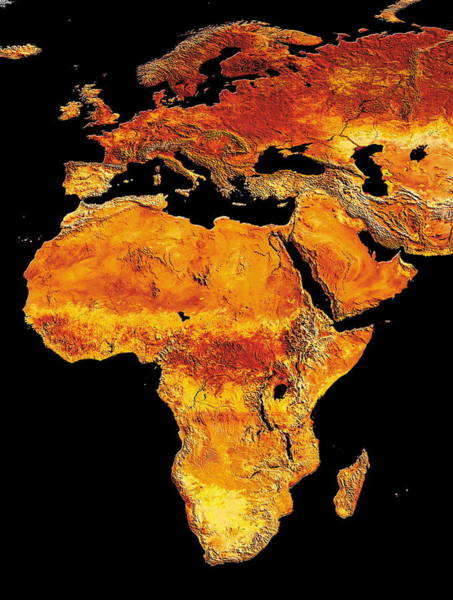 Wall Art - Photograph - Africa And Europe by Dynamic Earth Imaging/science Photo Library