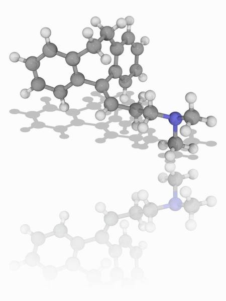 Wall Art - Photograph - Amitriptyline Drug Molecule by Laguna Design/science Photo Library