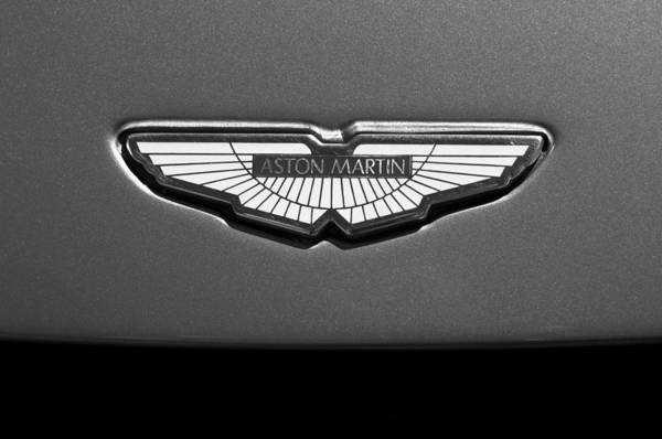 Exotic Car Photograph - Aston Martin Emblem by Jill Reger