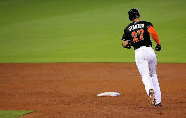 Giancarlo Stanton Photograph - Atlanta Braves V Miami Marlins by Mike Ehrmann