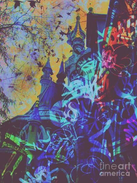 Sleeping Beauty Castle Digital Art - Aurora's Nightmare II by Marina McLain