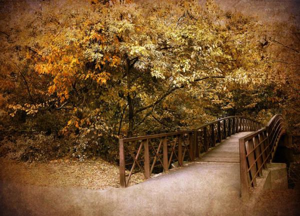 Footbridge Photograph - Autumn Crossing by Jessica Jenney