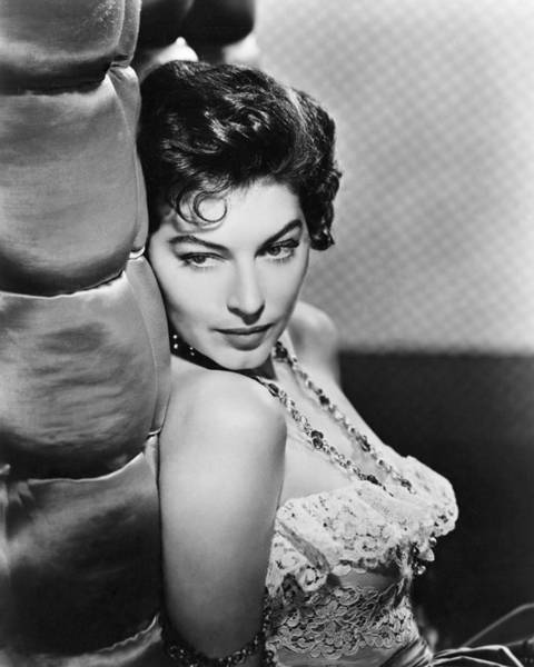 Glamorous Photograph - Ava Gardner by Silver Screen