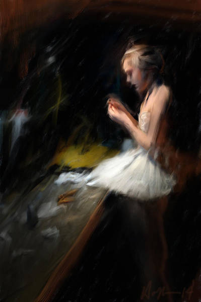 Wall Art - Painting - Backstage by H James Hoff