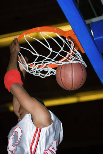 Exertion Wall Art - Photograph - Basketball Player by Gustoimages/science Photo Library