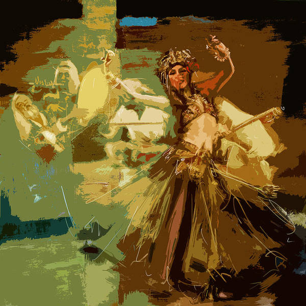 Traditional Dances Painting - Abstract Belly Dancer 16 by Corporate Art Task Force