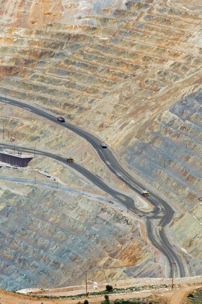 Road Side Photograph - Bingham Canyon Copper Mine by Jim West