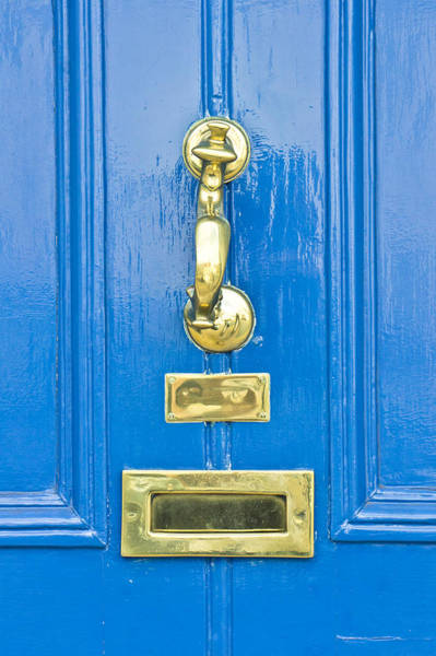 Metal Furniture Photograph - Blue Door by Tom Gowanlock