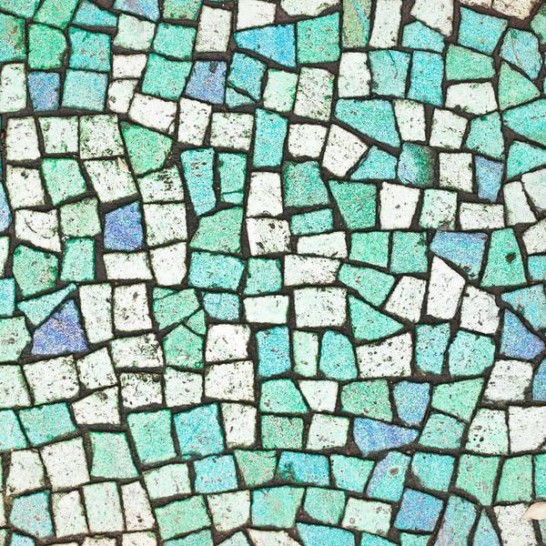 Bath Room Wall Art - Photograph - Blue Tiles by Tom Gowanlock